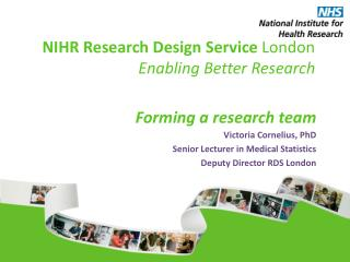 NIHR Research Design Service  London Enabling Better Research