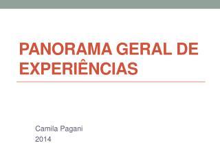 PANORAMA GERAL DE EXPERIÊNCIAS