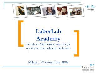 LaborLab Academy Scuola di Alta Formazione per gli operatori delle politiche del lavoro