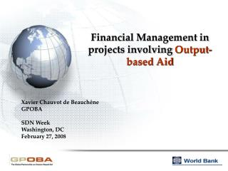 Financial Management in projects involving  Output-based Aid