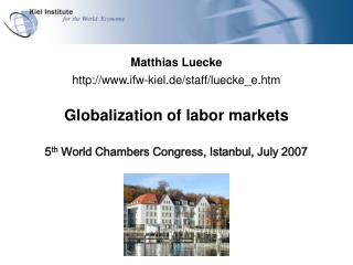 Globalization of labor markets