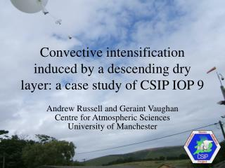 Convective intensification induced by a descending dry layer: a case study of CSIP IOP 9