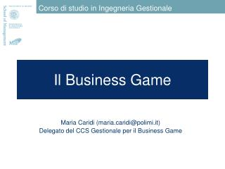 Il Business Game
