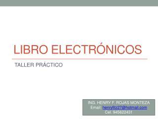 LIBRO ELECTRÓNICOS