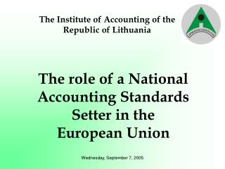 The Institute of Accounting of the  Republic of Lithuania