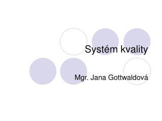 Systém kvality