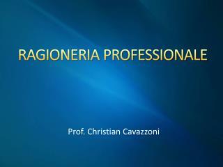 RAGIONERIA PROFESSIONALE