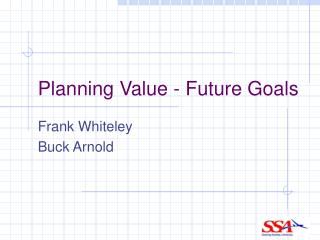 Planning Value - Future Goals
