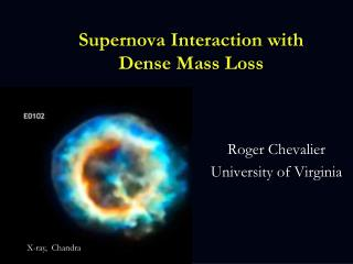 Supernova Interaction with Dense Mass Loss