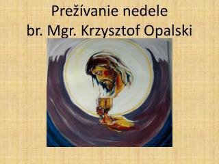 Prežívanie nedele br. Mgr. Krzysztof Opalski