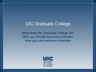 UIC Graduate College