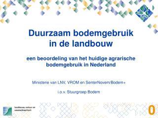 Duurzaam bodemgebruik in de landbouw
