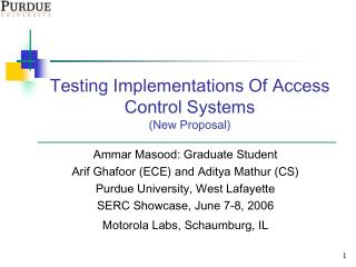 Testing Implementations Of Access Control Systems (New Proposal)