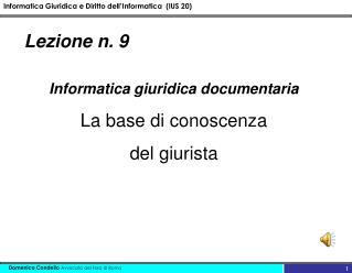 Lezione n. 9