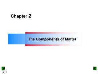 The Components of Matter