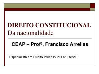 DIREITO CONSTITUCIONAL Da nacionalidade