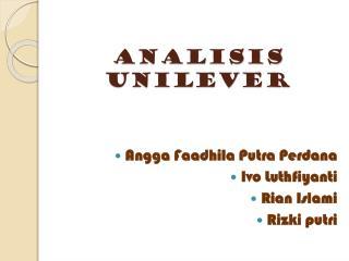 Analisis unilever