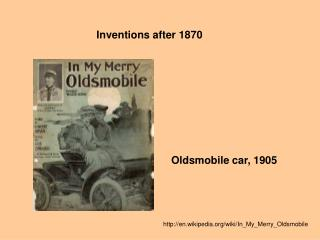 Inventions after 1870