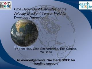 Time Dependent Estimates of the Velocity Gradient Tensor Field for Transient Detection