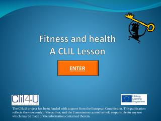 Fitness and health A CLIL Lesson