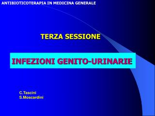 ANTIBIOTICOTERAPIA IN MEDICINA GENERALE