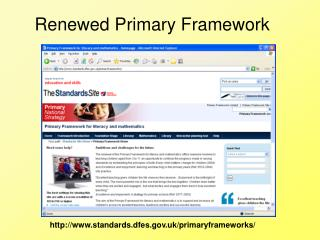 standards.dfes.uk/primaryframeworks/