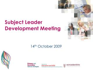 Subject Leader Development Meeting
