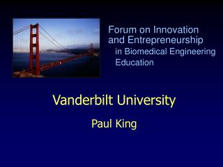 Vanderbilt University Paul King