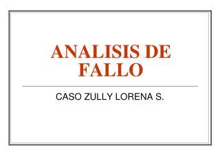 ANALISIS DE FALLO