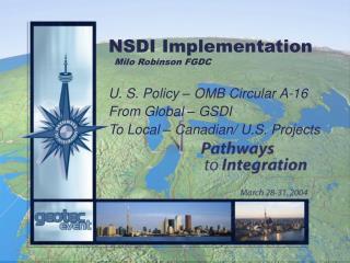 NSDI Implementation Milo Robinson FGDC