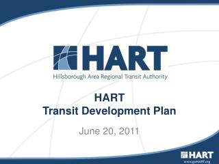 HART  Transit Development Plan