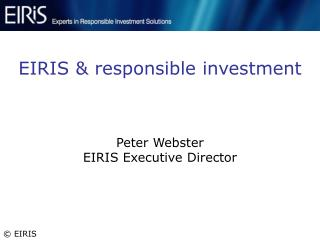 EIRIS & responsible investment
