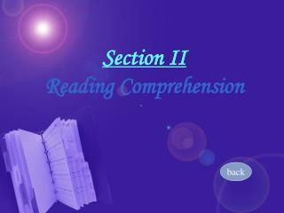Section II  Reading Comprehension