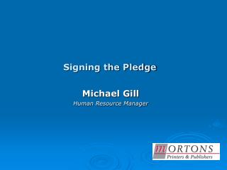 Signing the Pledge