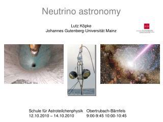 Neutrino astronomy