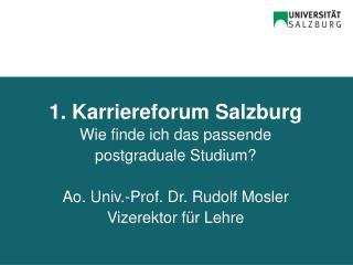 1. Karriereforum Salzburg