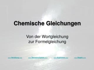 Chemische Gleichungen