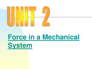 Force in a Mechanical System