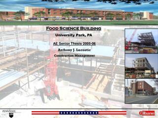 AE Senior Thesis 2005-06 Anthony J. Lucostic Construction Management