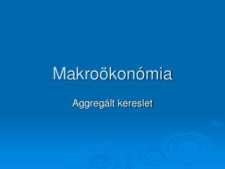 Makroökonómia
