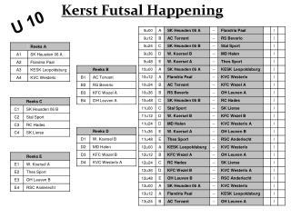 Kerst Futsal Happening
