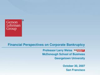 Financial Perspectives on Corporate Bankruptcy