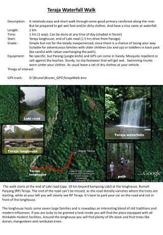 Teraja Waterfall Walk