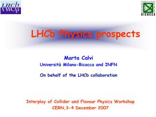 LHCb Physics prospects