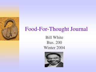 Food-For-Thought Journal