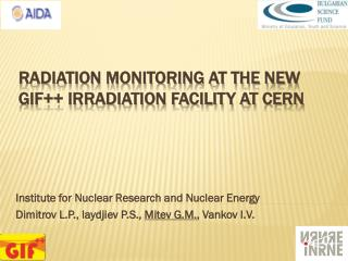 Radiation monitoring at the new GIF++ irradiation facility at CERN