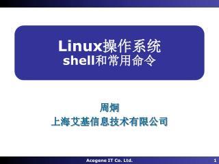 Linux 操作系统 shell 和常用命令
