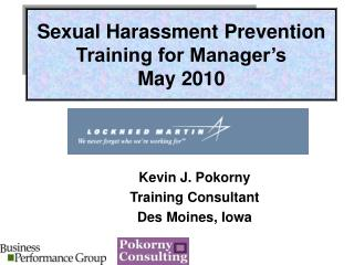 Sexual Harassment Prevention Training for Manager's  May 2010