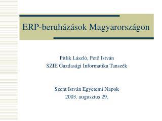 ERP-beruházások Magyarországon