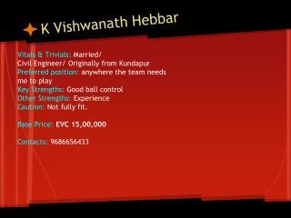 K Vishwanath Hebbar